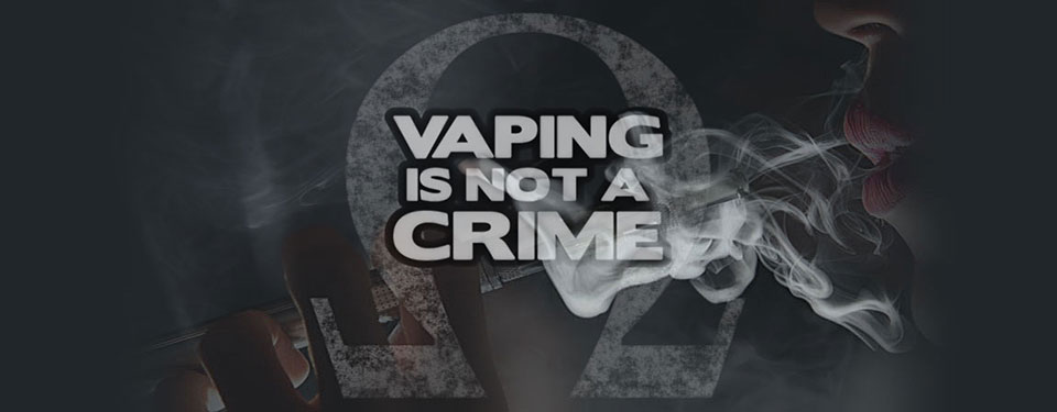Vaping is not a crime - former site header